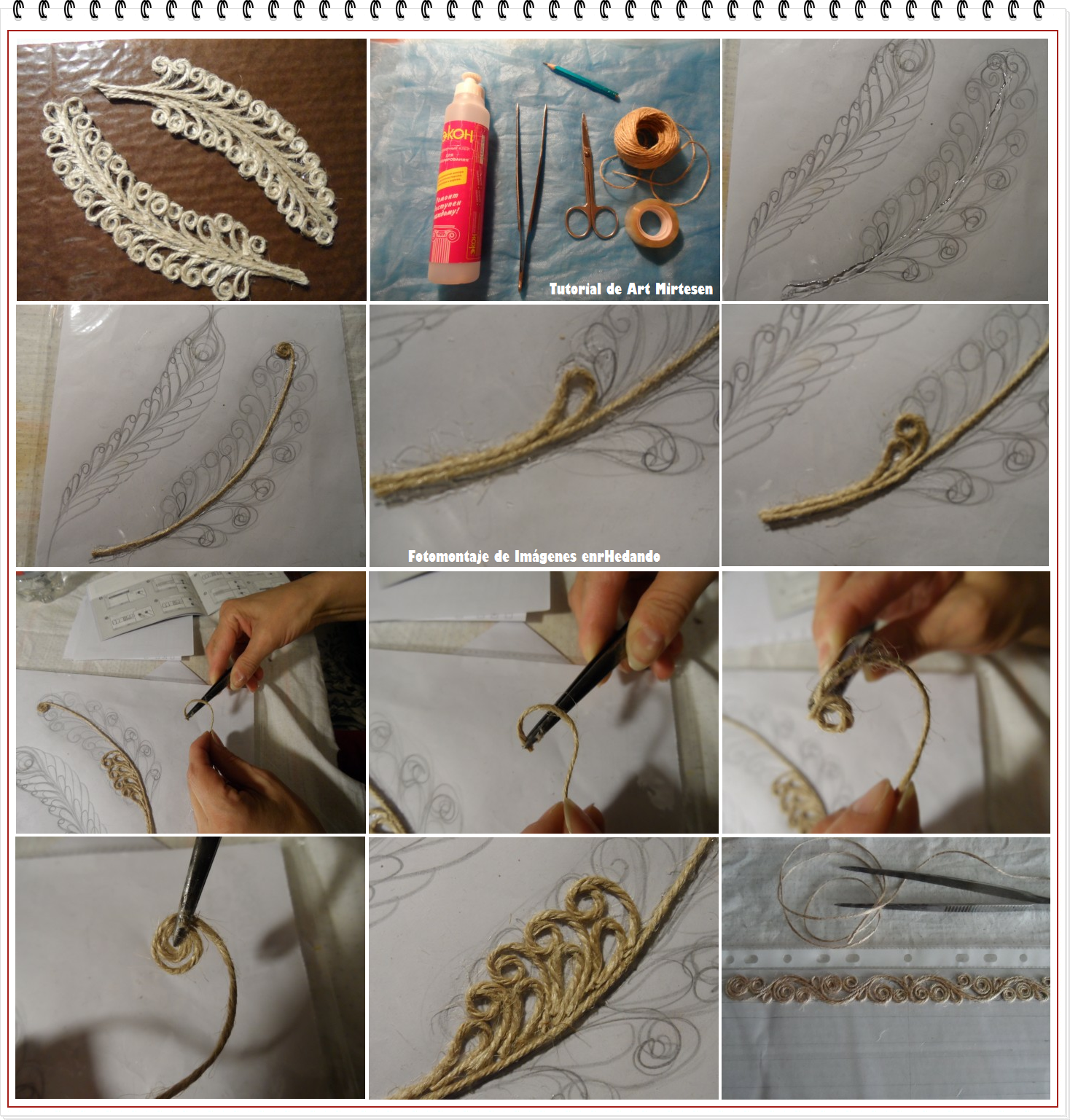 enrhedando como hacer filigranas de cuerda de caamo arte casero