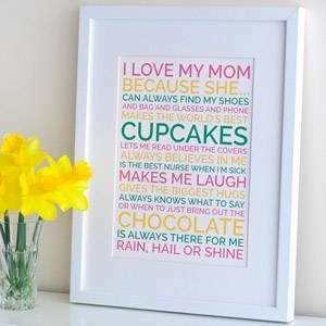 Love mom poster quotes pinterest personalized posters and thoughts homemade christmas gift ideas for men women and kids dozens of easy crafts and presents to make for all your friends and family plus free printable xmas solutioingenieria Choice Image