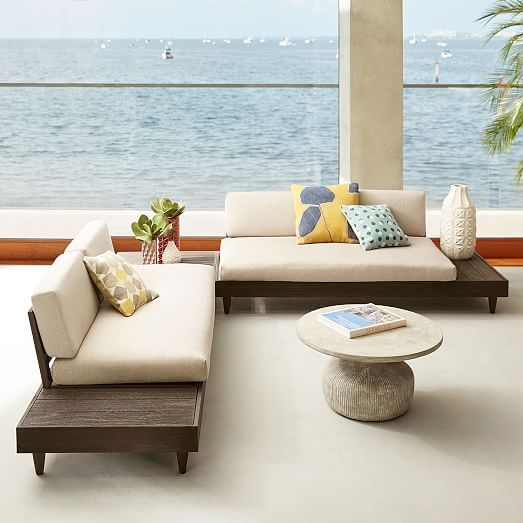 Build Your Own - Portside Outdoor Low Sectional Pieces - Weathered ...