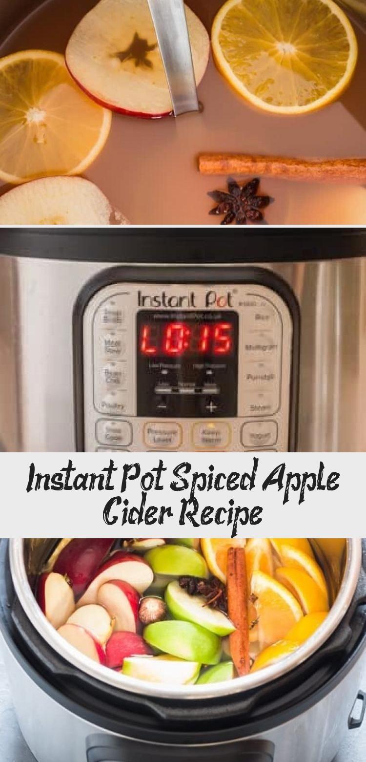 Het recept van Instant Pot gekruide appelcider is typisch herfst. Deze zelfgemaakte ...,  #Ap... #spikedapplecider