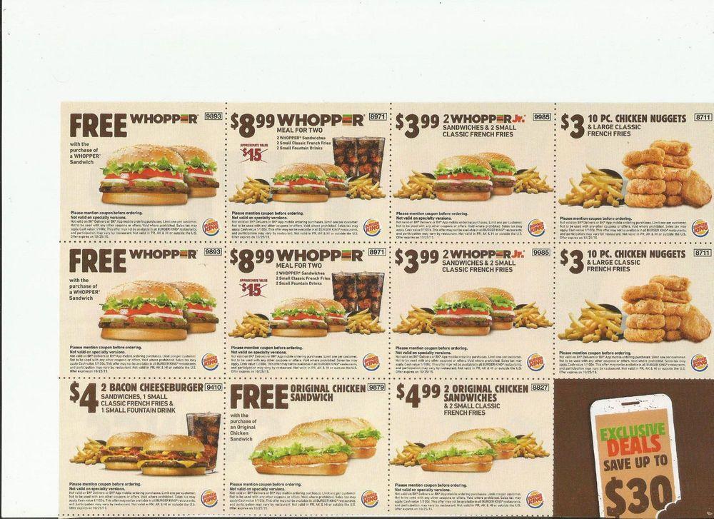 Free Printable Burger King Coupons Burger King Delicious Burgers Burger