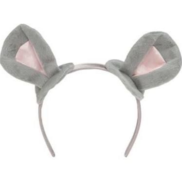 Girls Grey and Pink Mouse Ears on Head band.