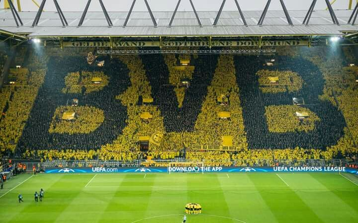 Image result for dortmund  yellow wall