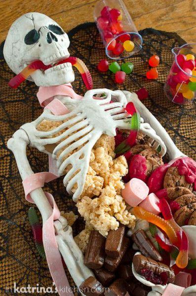 dessert skeleton platter in 2018 halloween ideas inspiration pinterest halloween party. Black Bedroom Furniture Sets. Home Design Ideas