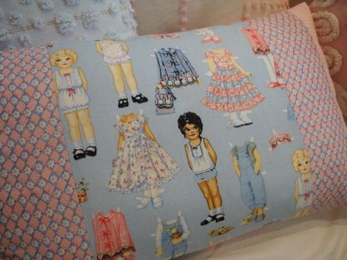 GIrLS PaPERDoLL Pink and BluE CoTTaGe SHaBBY by Sassycatcreations,