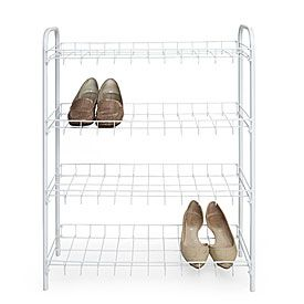 4-Tier White Wire Shoe Rack at Big Lots.