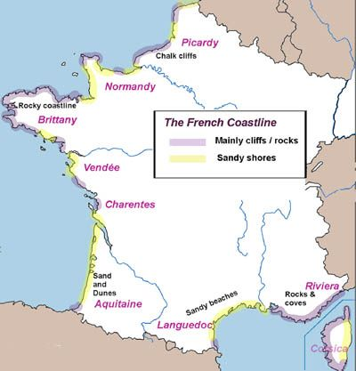 Map Of North West France.Map Of French Coast Most Beautiful Towns In France In 2019