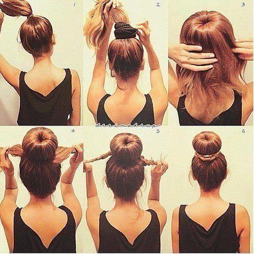 10 Tutos De Chignons Faciles A Faire Filles Aux Cheveux Longs Coiffure Coiffure Facile