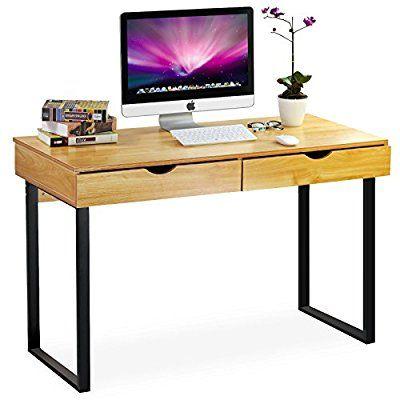 Tribesigns Schreibtisch Mit Schubladen Moderner Burotisch Computertisch Arbeitstisch Pc Tisch Fur H Mit Bildern Pc Schreibtisch Schreibtisch Mit Schubladen