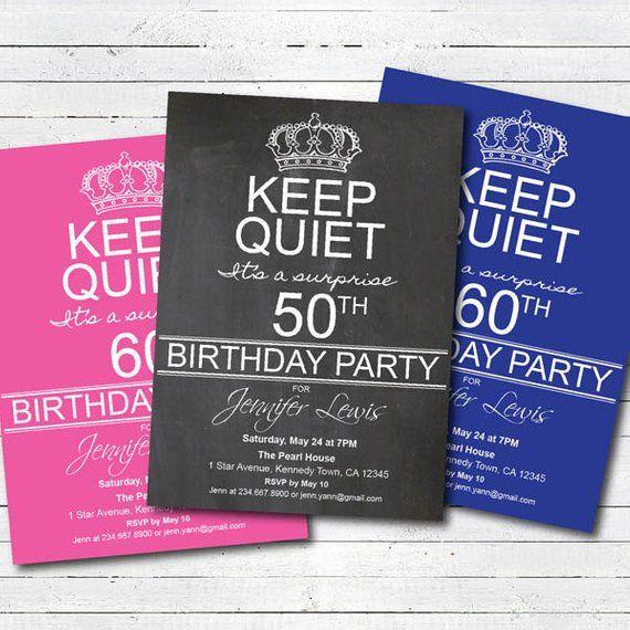 Surprise 50th Birthday Party Invitation 60th 70th Invite