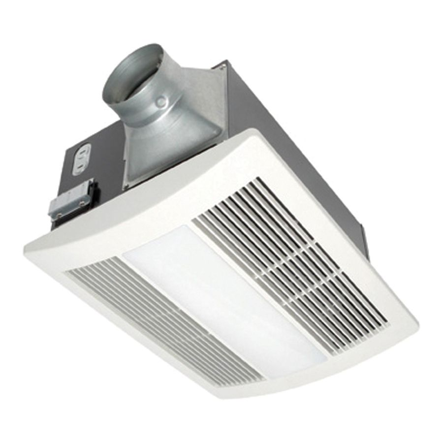 Panasonic 0.7-Sone 110-CFM White Bathroom Fan with Integrated Heater and Light ENERGY STAR