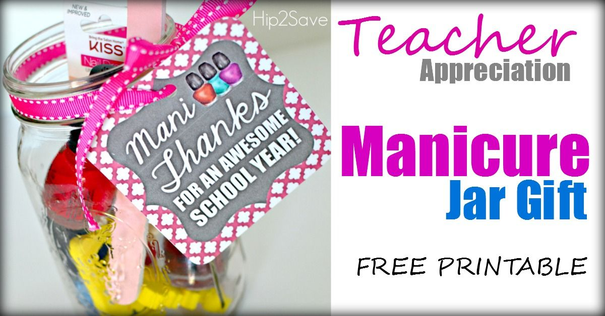 Give thanks to the teachers in your life with a fun manicure jar!