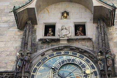 Detalhes do Astronomico Relógio de Praga