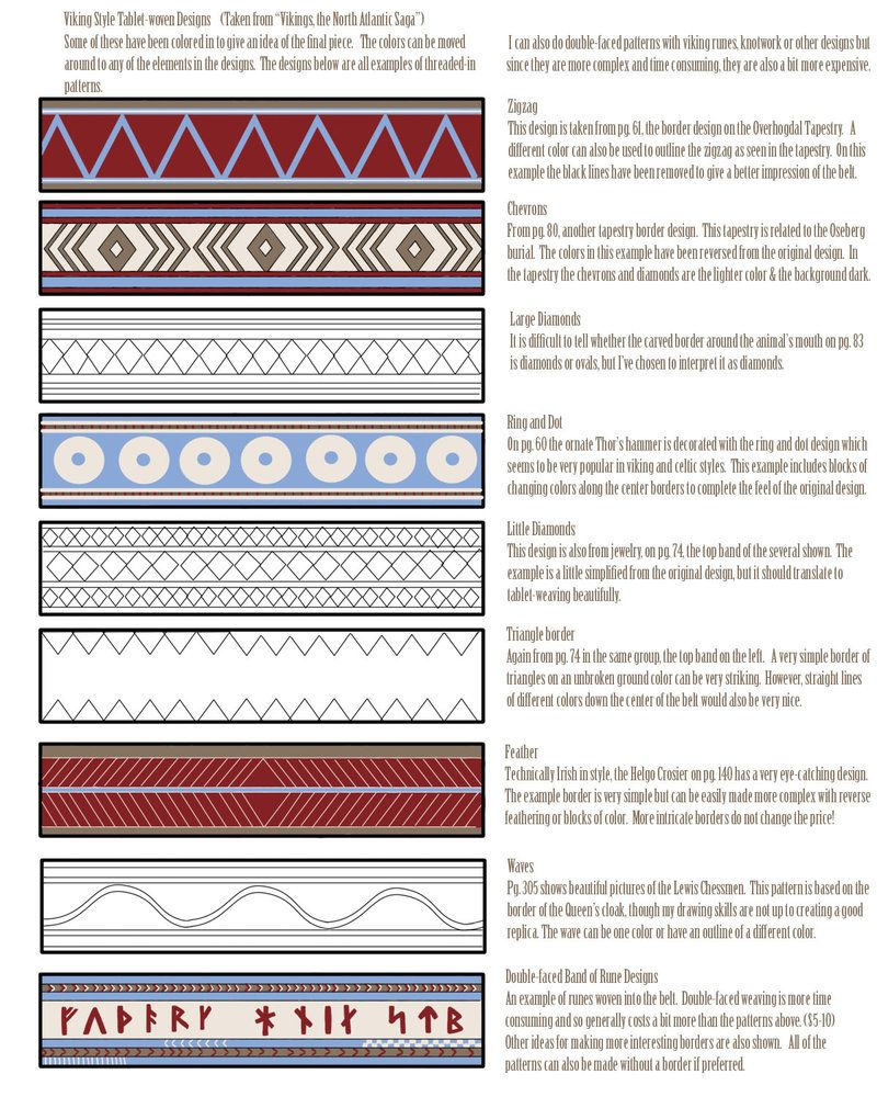 Viking Weaving Patterns By Chiomara With Images Tablet Weaving