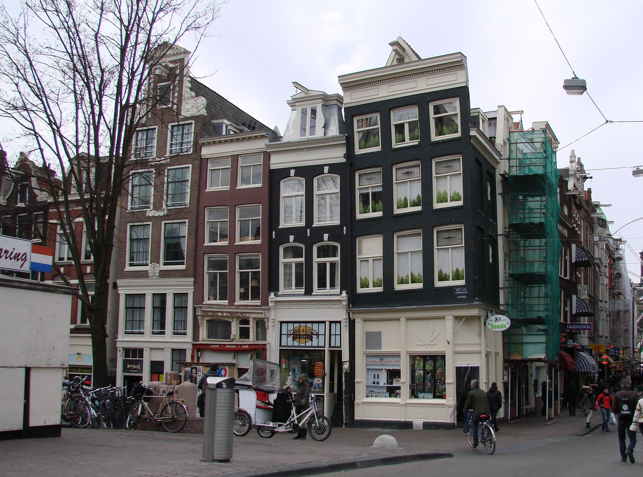 Inclined House In Amsterdam
