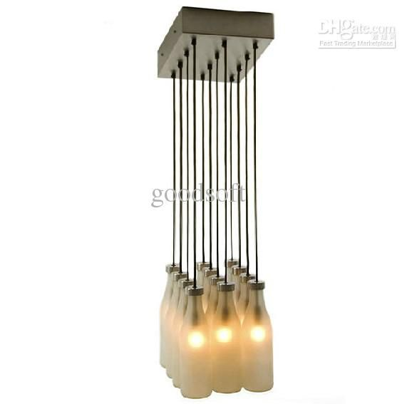 Nordic tejo remy milk bottle lamp white glass metal chandeliers glass metal milk bottle chandeliers chryso mozeypictures Choice Image