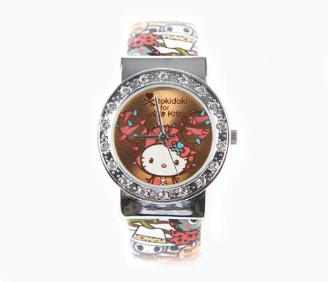 tokidoki x Sanrio Hello Kitty SANDy Bangle Wrist Watch 2015 Summer Safari Collection