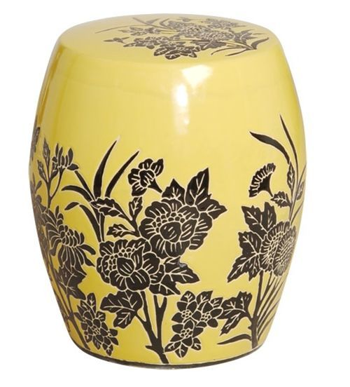 Great prices on Yellow Flower Design Garden Stool Free shipping