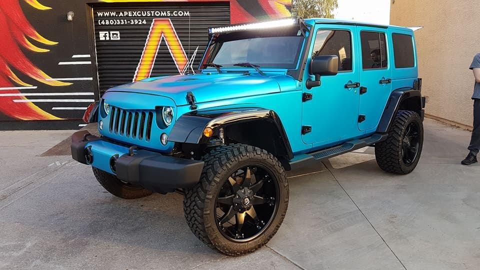 2017 Jeep Wrangler 4 Door 1 3m Satin Ocean Shimmer 2 Angry Bird
