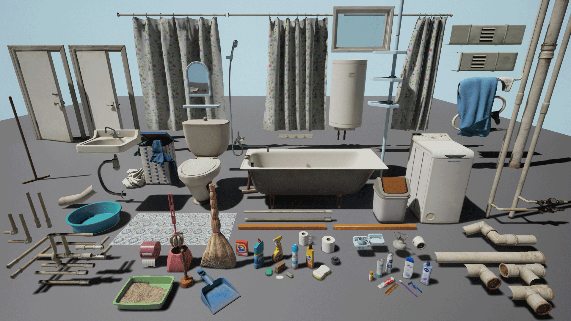 Bathroom white noise - Post Soviet Bathroom By White Noise Team In Environments Ue4 Marketplace