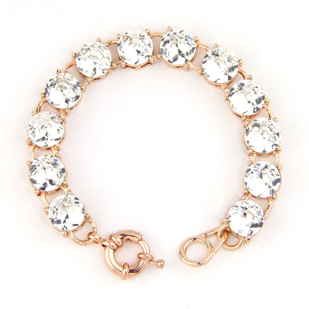 Fashion cute vintage small size cm rose gold color clear dot