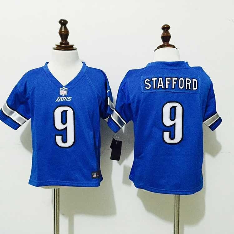 7c17cf27d Detroit Lions 9 Stafford Blue Nike baby Jersey