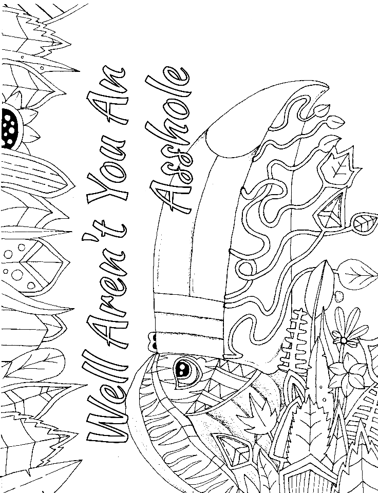 Get 14 FREE swear word coloring pages when you sign up at