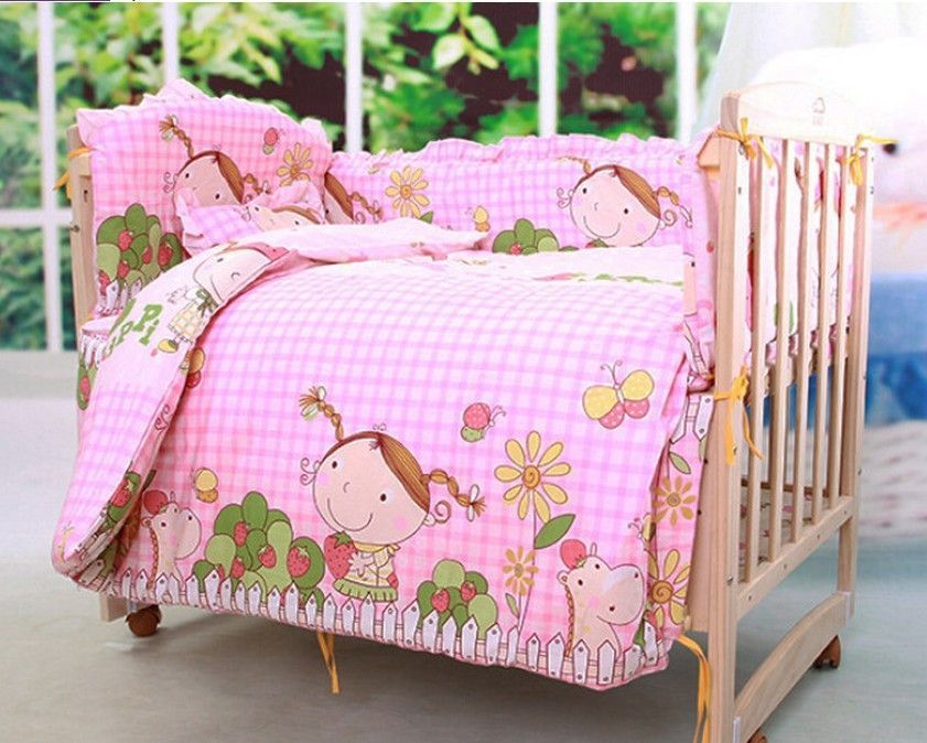 Adorable Pink Sweet Strawberry Little Girl 10 Pc Baby Nurser Baby Set Baby Bedding Sets Baby Bed Baby Crib Bedding Sets
