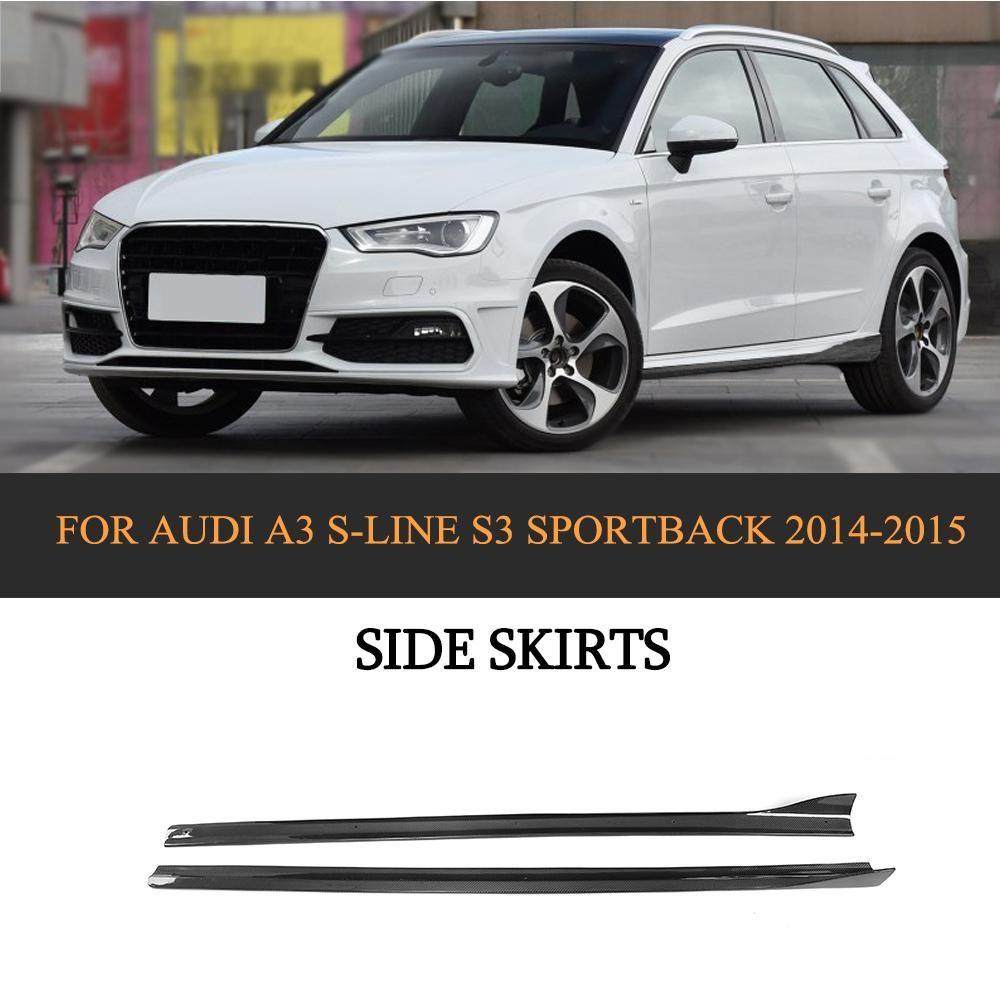 S12 Carbon Fiber Side Skirts Extensions for Audi A12 S-LINE S12 ... | audi a3 car accessories