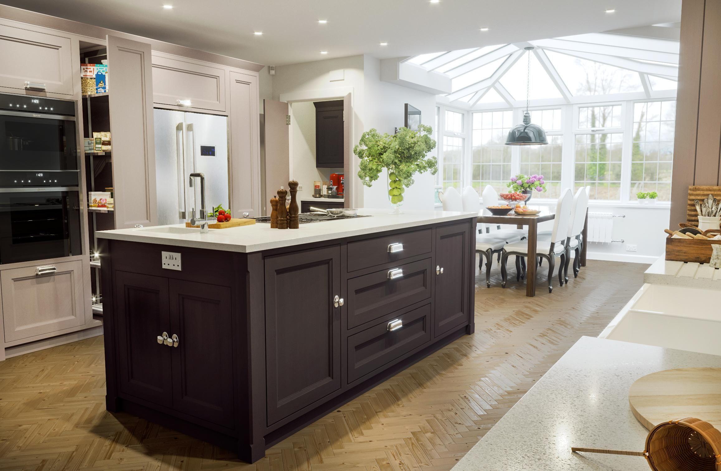 New To Reddit This Is One Of My Recent Renders 2315 X 1511 Kitchen Design Kitchen World Kitchen Cabinets