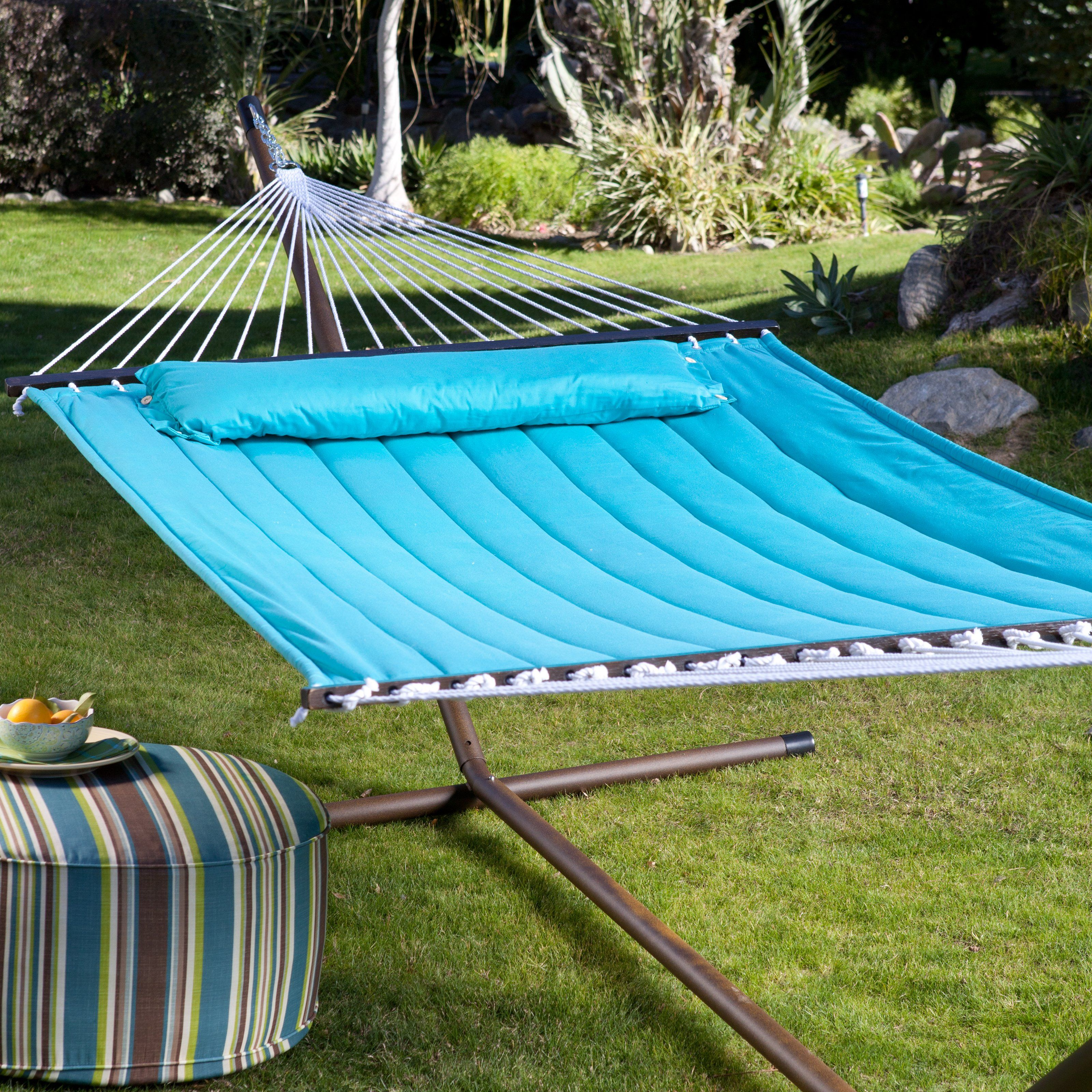 island bay 13 ft  solid turquoise quilted hammock with 15 have to have it  island bay 13 ft  solid turquoise quilted hammock      rh   pinterest