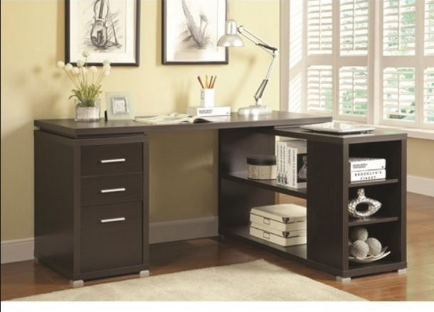 Yvette L Shaped Desk in Cappuccino in 2018 DECORATING Pinterest