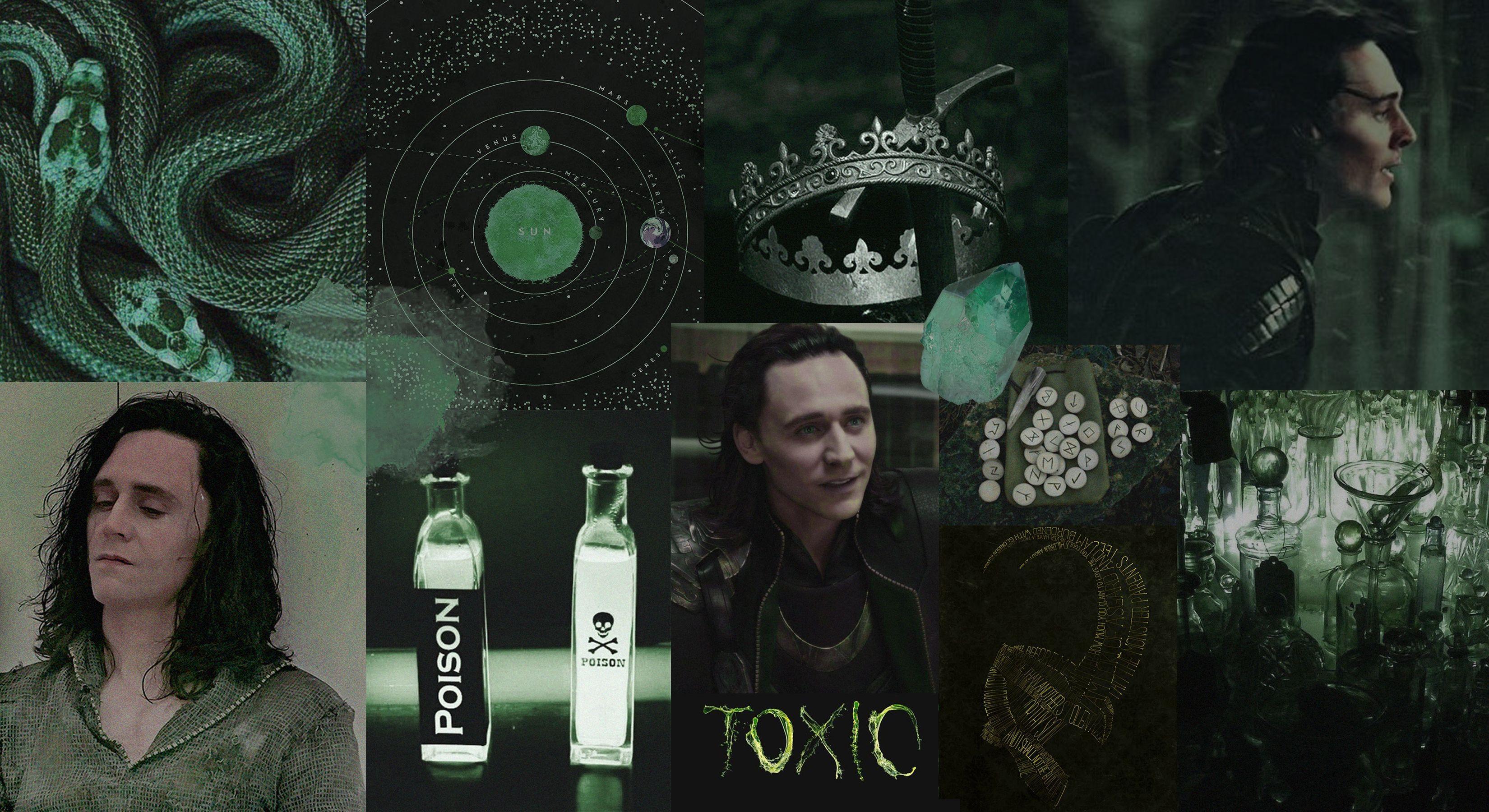 green poison loki toxic aesthetic