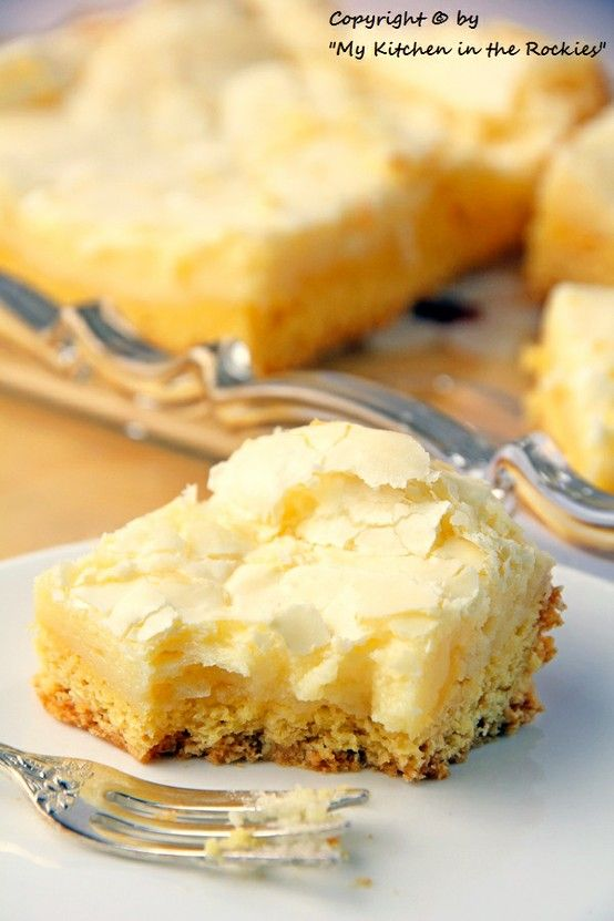"""Neiman Marcus cake. """"Has a vanilla cake bottom and a sweet crunchy creamy cheese topping...absolutely fantastic."""""""