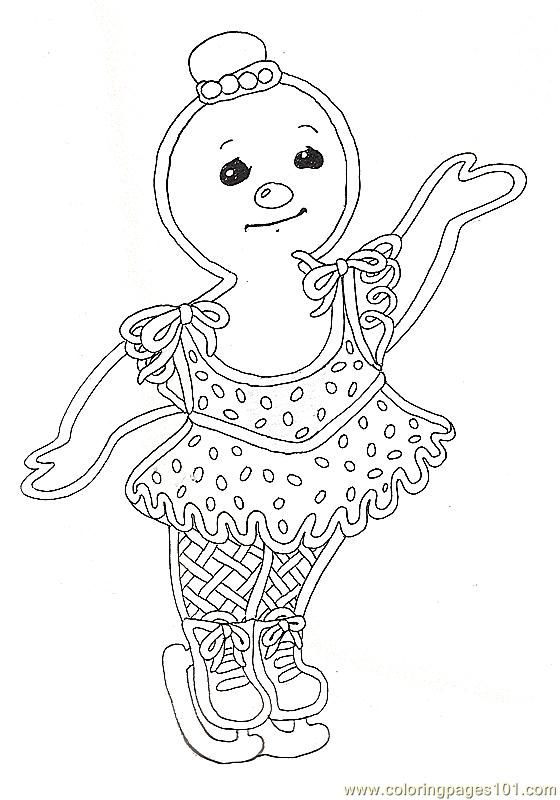 Gingerbread Girl Coloring Page | Coloring Pages Gf Mural ...