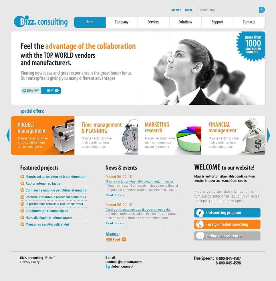 Consulting PSD Template Consulting PSD Template Psd