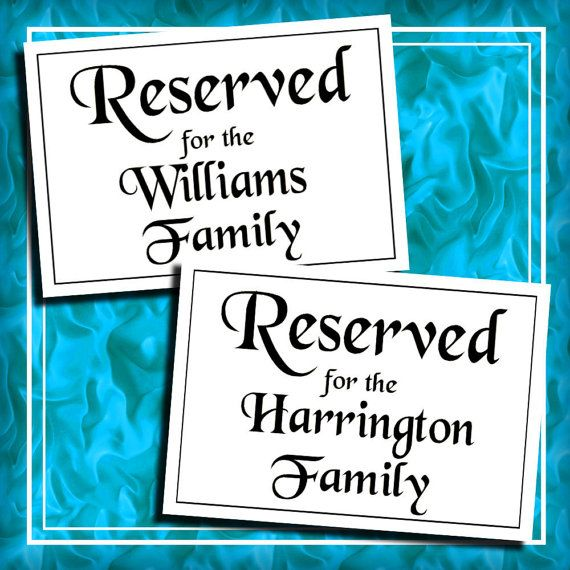 Diy weddings personalized reserved table signs wedding tables diy weddings personalized reserved table signs wedding tables decor by idodiy 1000 junglespirit Images