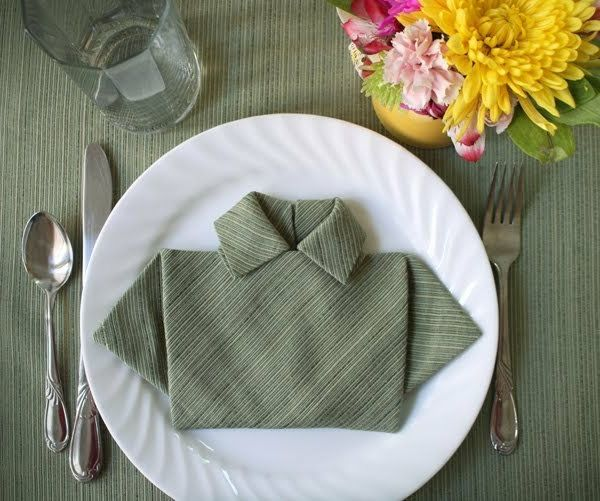servietten falten hemd