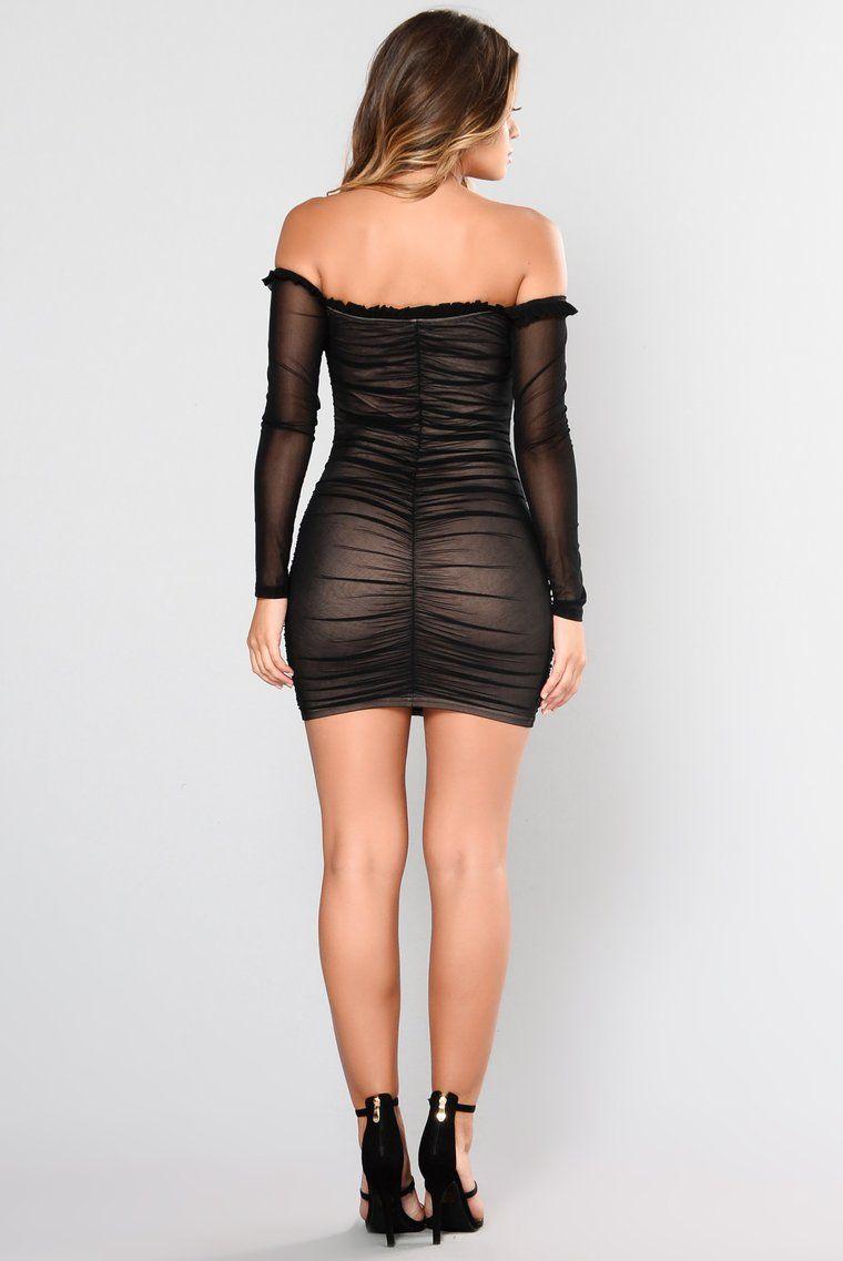 Maura Mesh Dress Black Mesh dress, Black mesh dress