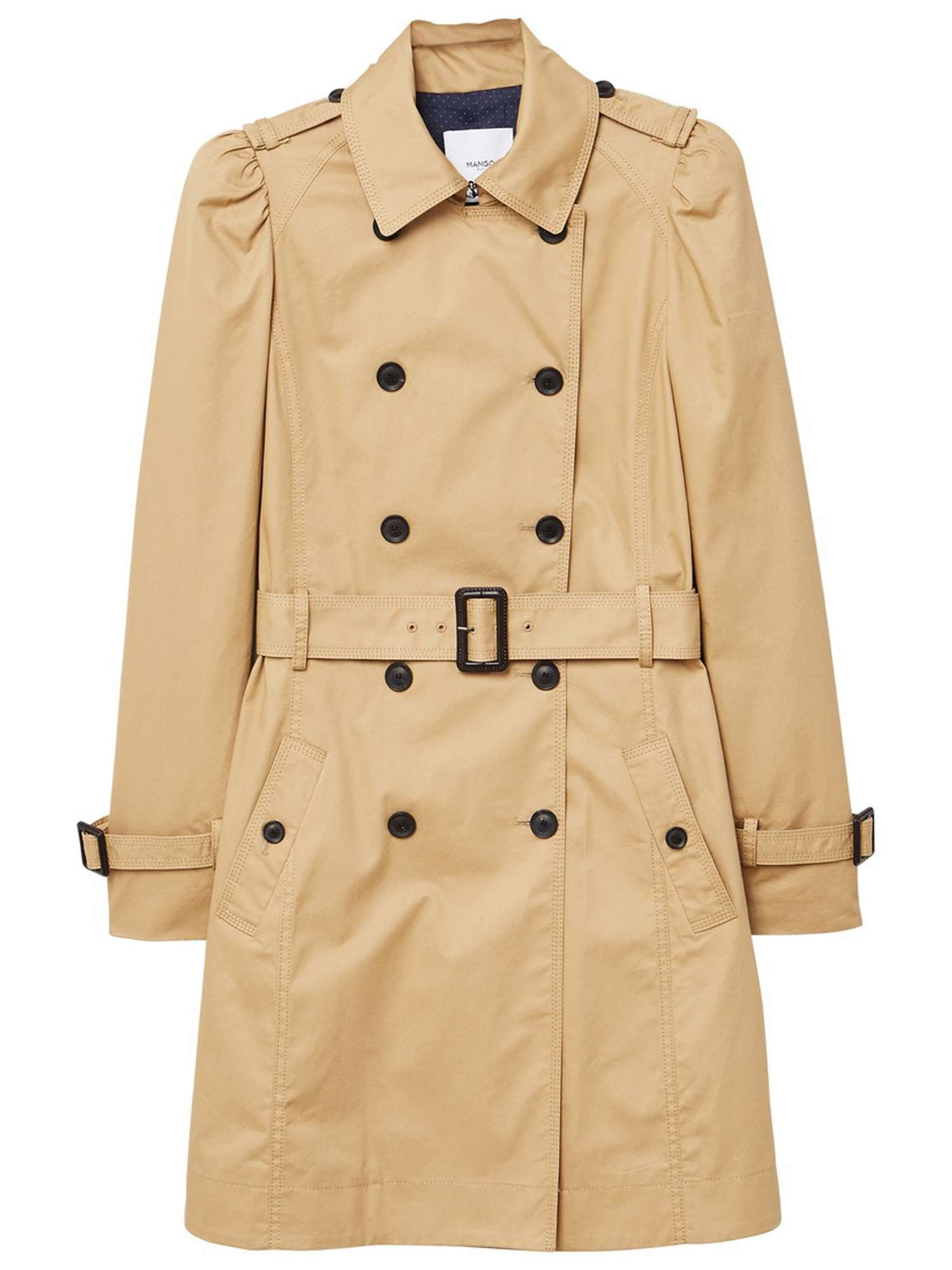 e34dc55a1 Mango Puffed-shoulder Trench - House of Fraser