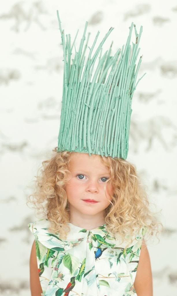 Easy crafts for kids: Crown of Twigs from Playful by Marianne Lilliard