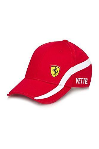 Baseball style cap with Scuderia Ferrari logo on front 054189427e9