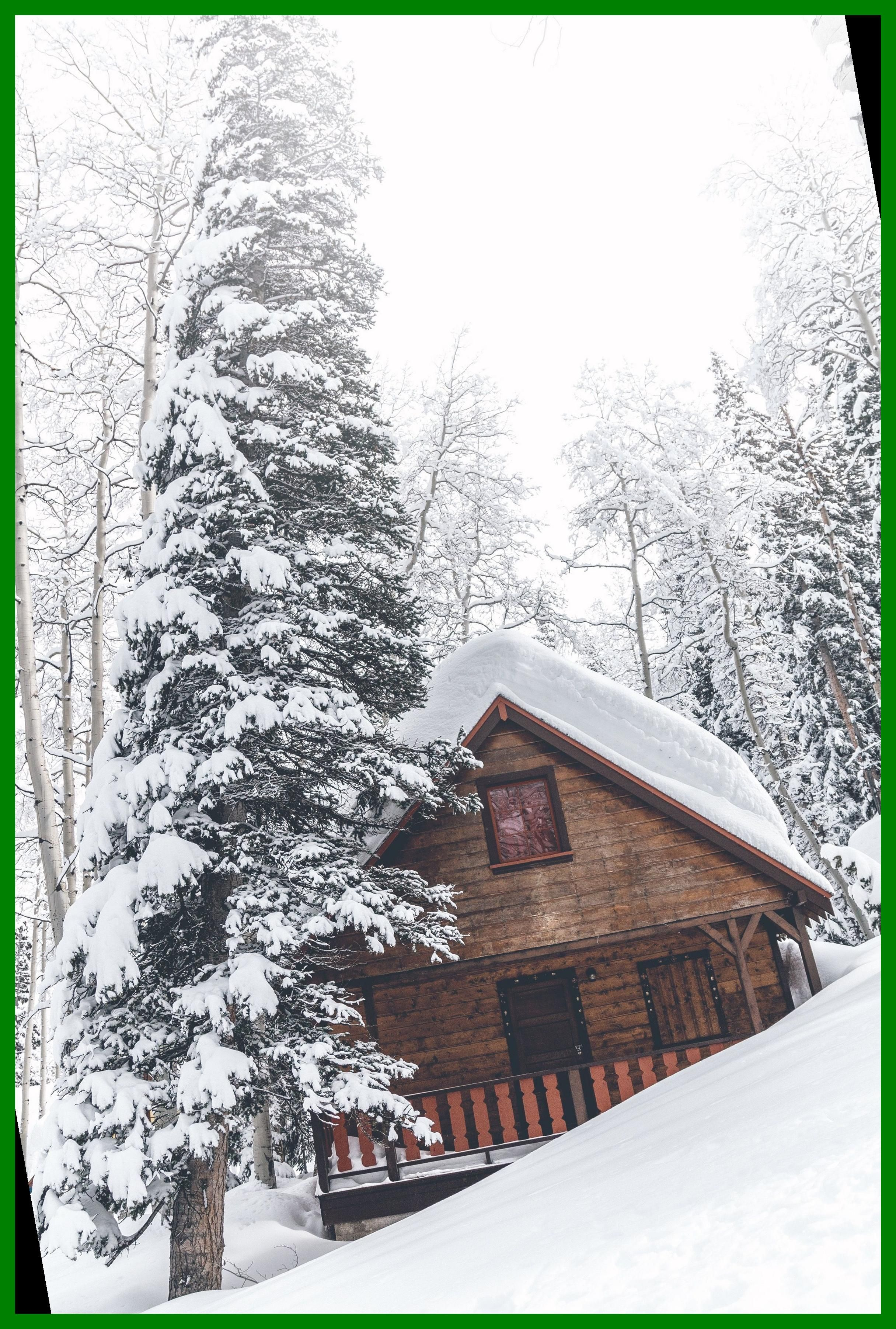 Cabin In The Woods Rustic Cabin Wall Art Snowy Winter Scene Snowing Winter Day Log Cabin Print