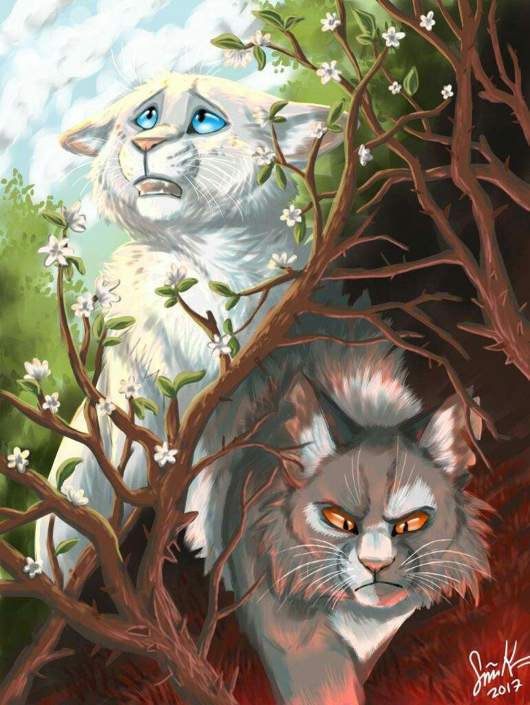 Snowfur And Thistleclaw Warrior Cats Warrior Cat
