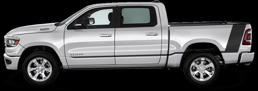 2019 2020 2021 Dodge Ram 1500 Tail Rocker Accent Stripes Vinyl Graphics Stripes Decals Kit Fits Tradesman Big Horn Lone Star Laramie Laramie Longhorn In 2020 Dodge Ram 1500 Ram 1500 Dodge Ram