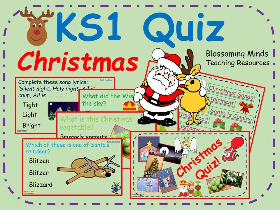 KS1 End of Term Christmas Quiz - 80 questions | Christmas quiz, This or that questions, Christmas