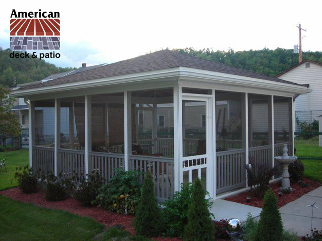 Freestanding Screen Cabana Nicely Finished Screened Enclosure Built In Pennsylvania