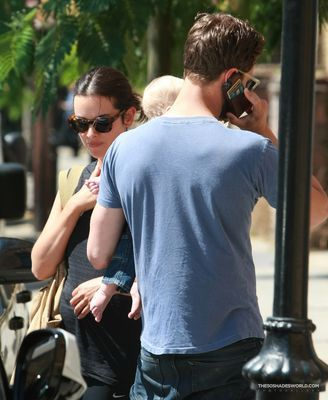 Jamie Dornan out with his Family