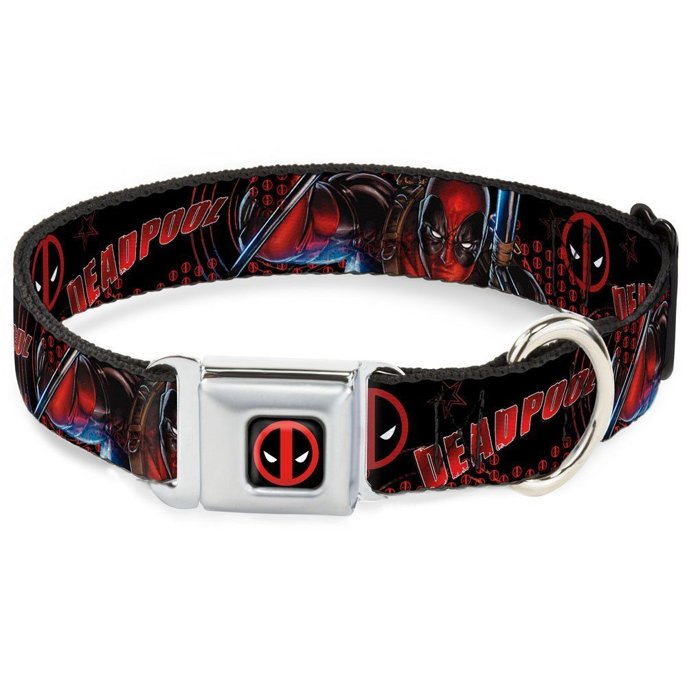Buckle-Down DPA Dead pool Logo Black/Red/White Dog Collar -- Click image for more details. (This is an affiliate link and I receive a commission for the sales) #DogCollars