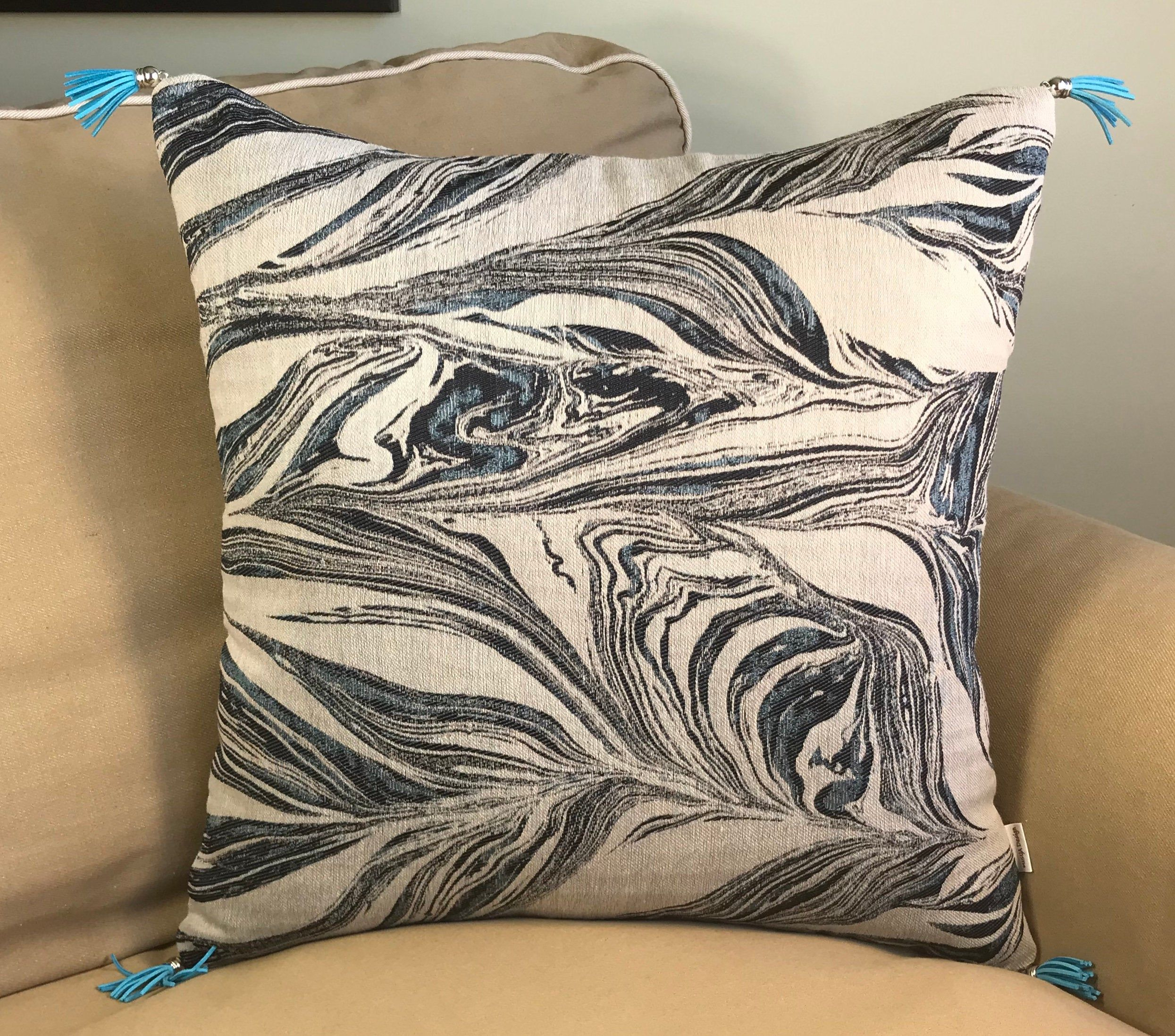 double sided abstract decorative pillow
